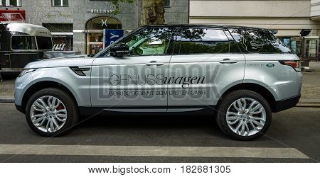 BERLIN - JUNE 05 2016: Mid-size luxury SUV Range Rover Sport since 2013. Classic Days Berlin 2016.