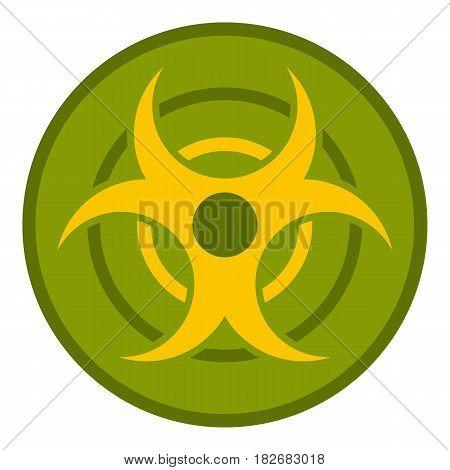 Biohazard symbol icon flat isolated on white background vector illustration