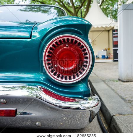 BERLIN - JUNE 05 2016: Stoplamp of compact car Ford Falcon1962. Classic Days Berlin 2016.