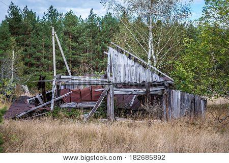 Mashevo abandoned village in Chernobyl Exclusion Zone Ukraine