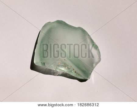 White Crystal Rock Glass On A White Background