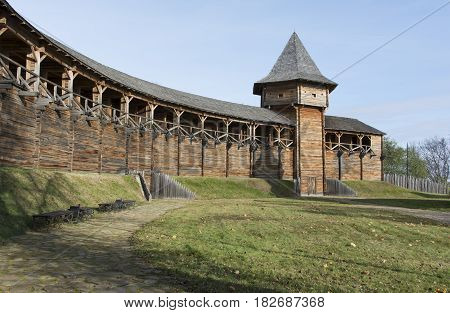The ancient defensive structures of the Ukrainian cossack