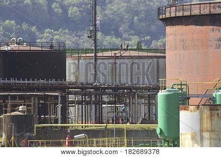 chemical plant in la spezia , italy