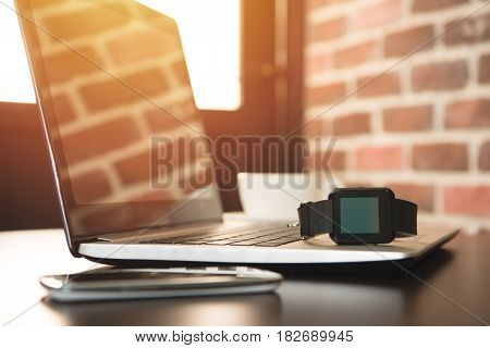 Smartphone With Smartwatch And Laptop