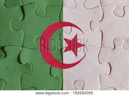 Algeria Flag Puzzle