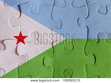 Djibouti Flag Puzzle