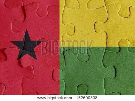Republic Of Guinea-bissau Flag Puzzle