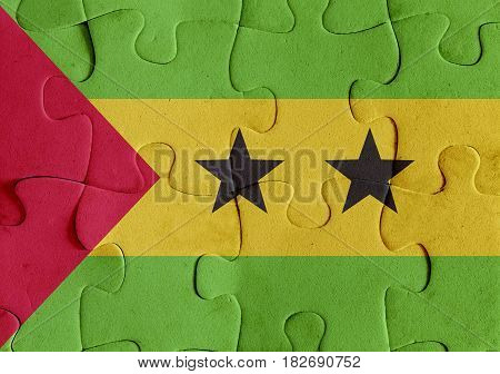 Democratic Republic Of Sao Tome And Principe Flag Puzzle
