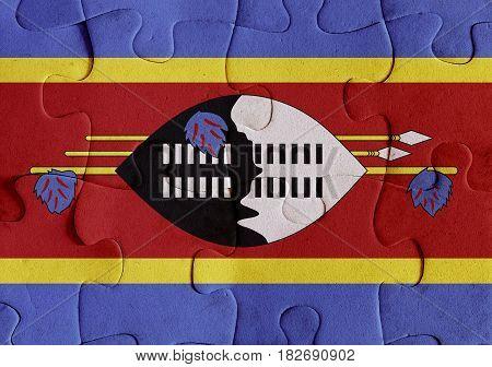 Kingdom Of Swaziland Flag Puzzle