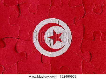 Tunisia Flag Puzzle