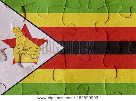 Republic Of Zimbabwe Flag Puzzle