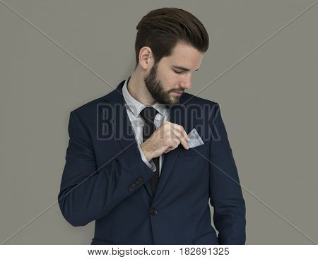 Caucasian Business Man Credit Card