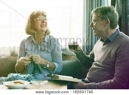 Senior adult couple spending time together after retirement