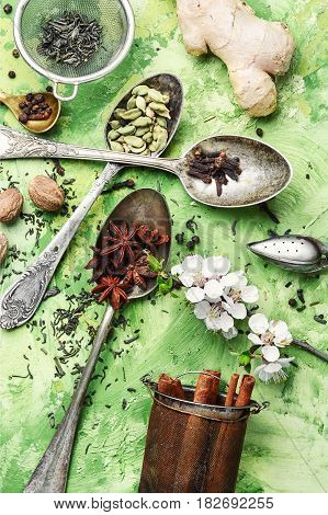 Herbs And Spices For Spring Tonic Tea