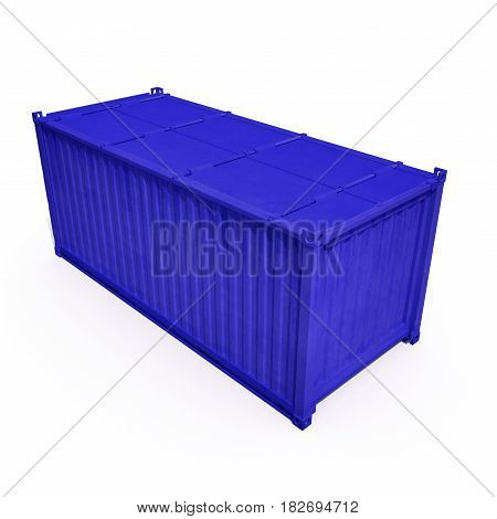 Shipping container isolated on white background. 3D illustration