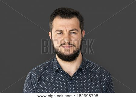 Man standing and posing for photoshoot