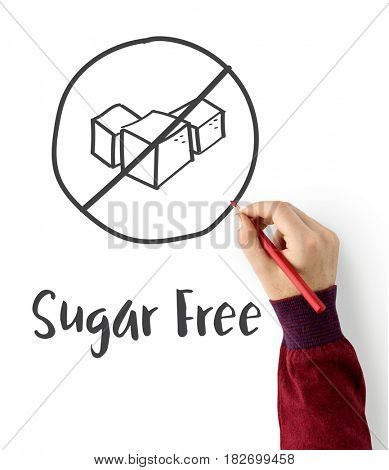 Sugar Free Healthy Lifestyle Concept