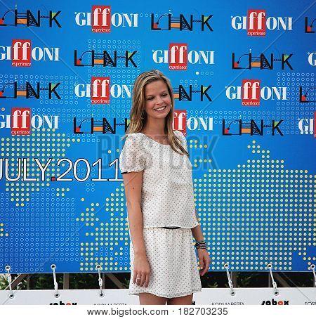 Giffoni Valle Piana Sa Italy - July 15 2011 : Dina De Laurentiis at Giffoni Film Festival 2011 - on July 15 2011 in Giffoni Valle Piana Italy