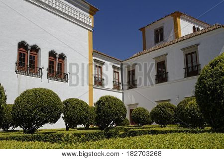 Sintra, Portugal, April 7, 2017 : Gardens Of Palace Of Sintra, For A Long Time The Residence Of Roya