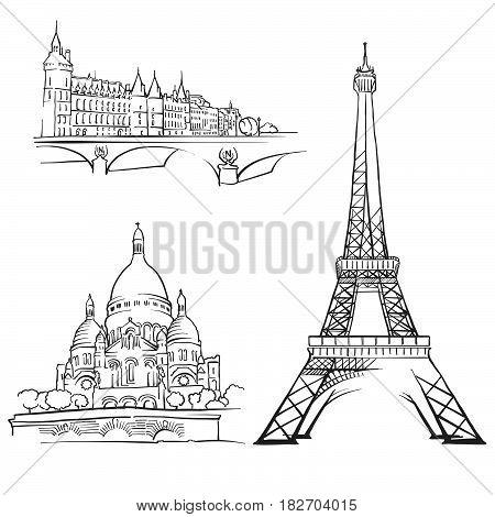 Paris France Famous Buildings