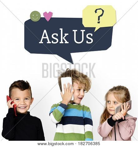 Ask Us Assistance Support Concept