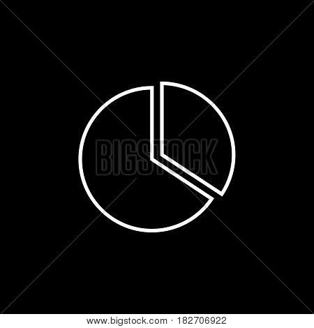 Data analytics line icon, seo and development, marketing sign, a linear pattern on a black background, eps 10.