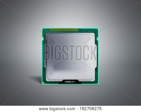 Computer Processors Cpu High Resolution 3D Render On Grey