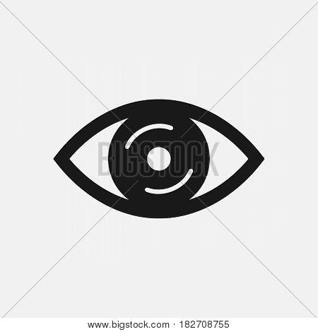 Eye icon. Vector illustration. Eps 10 icon