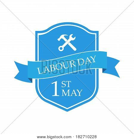 Happy 1st may - Labour day. isolated on white background. Vector illustration.