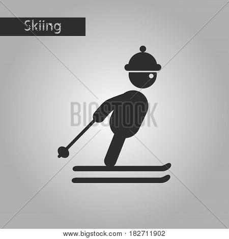 black and white style icon skier freestyle