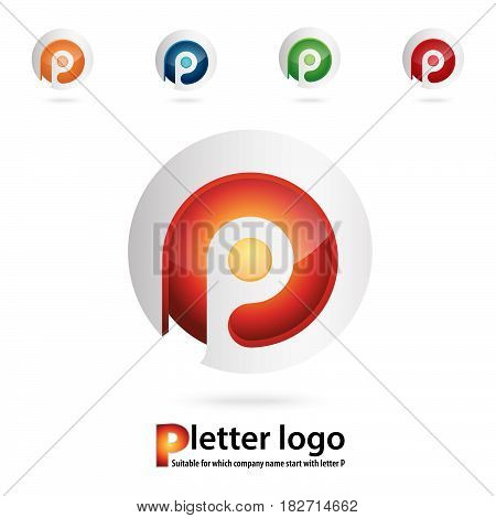 3d p letter logo 100% vector fully editable and re sizable suitable for which letter is beginning with letter p