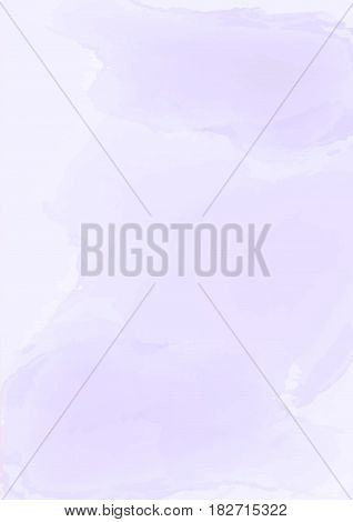 Vertical Abstract Pastel Purple Watercolor Paper Background
