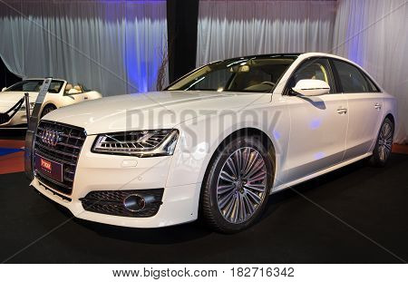 Audi A8 2016 Presented On Tel-aviv Motor Show