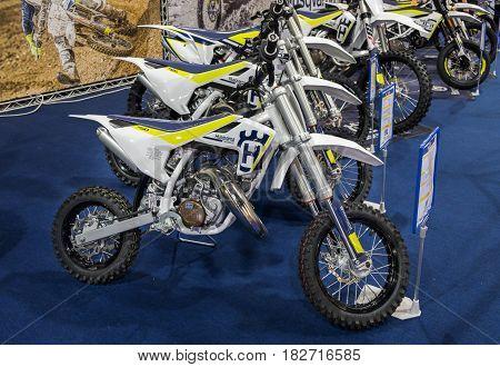 Husqvarna Motorcycle Tc 50 Presented On Tel-aviv Motor Show