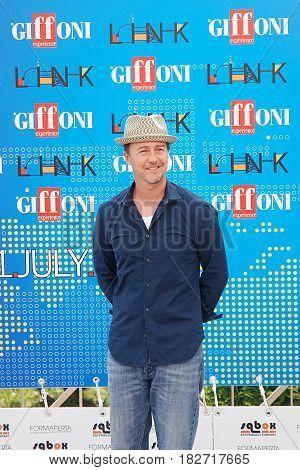 Giffoni Valle Piana Sa Italy - July 13 2011 : Edward Norton at Giffoni Film Festival 2011 - on July 13 2011 in Giffoni Valle Piana Italy