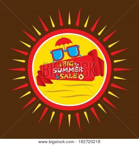 big summer sale heading poster design like sun shape