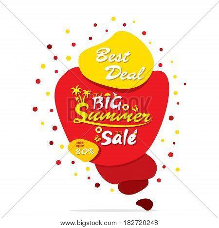 big summer sale banner design using abstract shape
