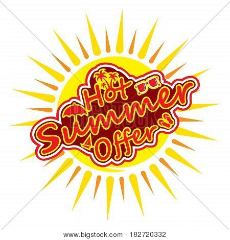 hot summer sale offer banner or poster design
