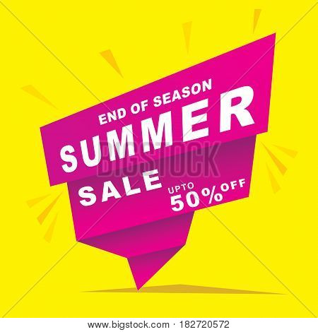 big end of season summer sale design
