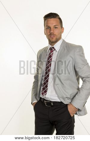manager against white background