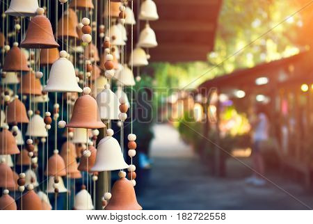 Hand Made Wind Chimes Hanging On A String