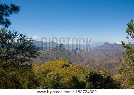 Typical landscape of Gran Canaria, Canary Islands, Spain