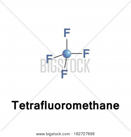 Tetrafluoromethane, carbon tetrafluoride, is the simplest fluorocarbon with a very high bond strength due to the nature of the carbon fluorine bond. It also classified as a haloalkane or halomethane.