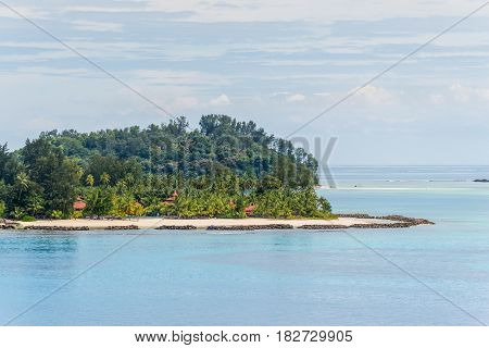 View of the beaches on the Sainte Anne Marine National Park Seychelles Indian Ocean East Africa