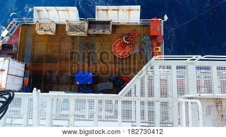 offshore seaport  and cargo container. Offshore  lay down area.