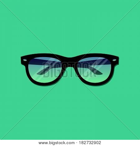 Vector illustration of stylish glasses in a flat style.