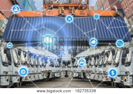 Global business logistics system connection technology interface global partner connection