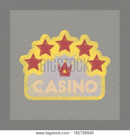 flat shading style icon poker casino sign