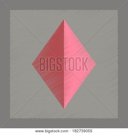 flat shading style icon poker diamonds suit