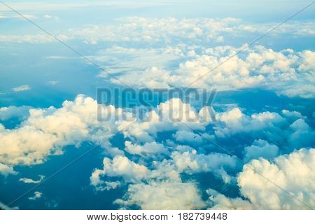 Blue Sky With Cloudy Background Above View